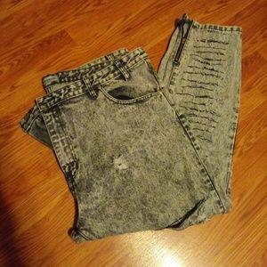 Alice & You black acid washed jeans